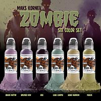 Краска для тату WF Maks Kornev's Zombie Color Set